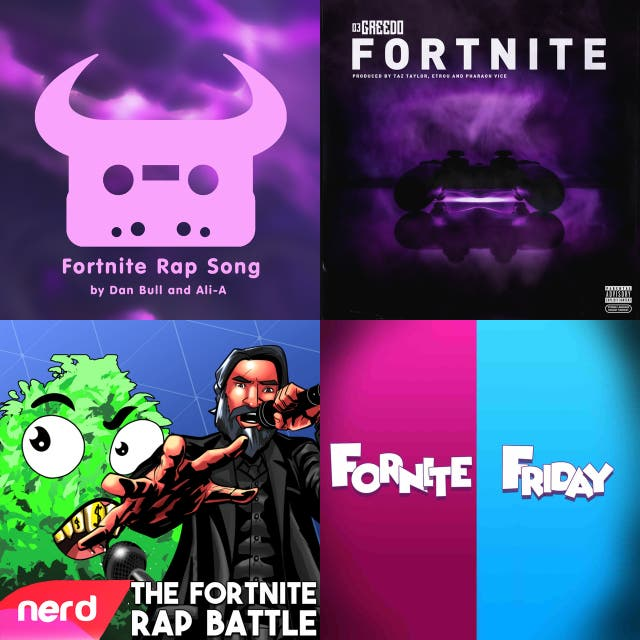 The Fortnite playlist on Spotify