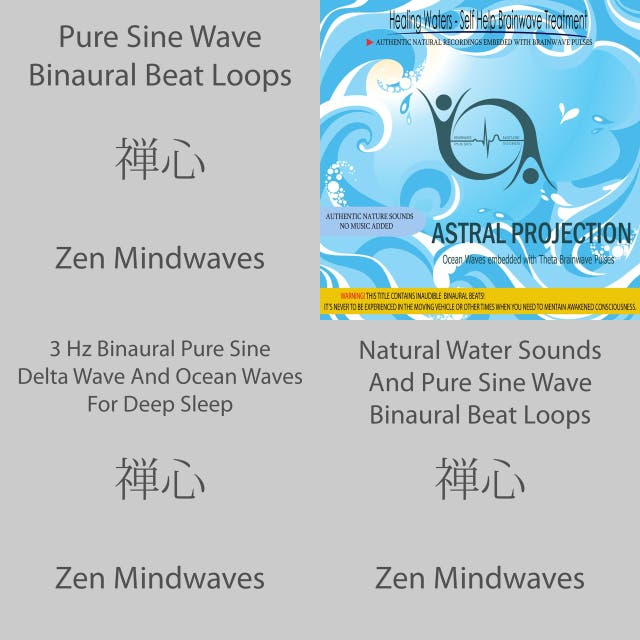Astral Projection - Ocean Waves embedded with Theta Brainwave pulses