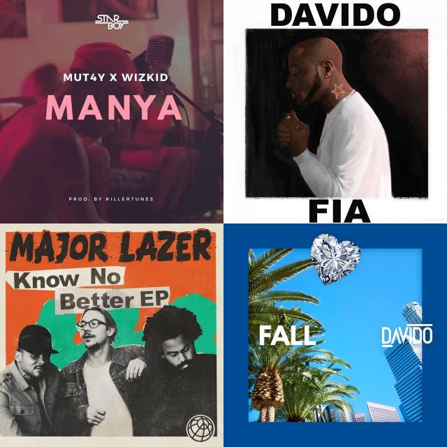 Top 50 African Songs * Davido Fall, Wizkid come closer drake