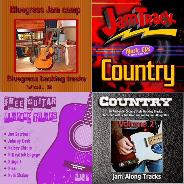 free country backing tracks for guitar